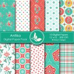 Antika Digital Papers