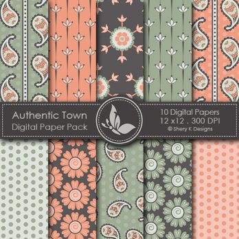 Authentic Town Digital Papers