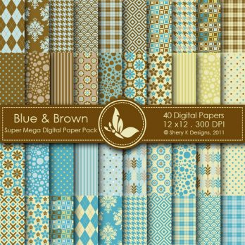 Blue & Brown 40 Digital Pack