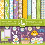 Easter This Year Digital Papers & Cliparts