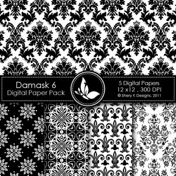 Damask 6 Digital Pack
