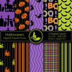 Free Halloween Digital Papers