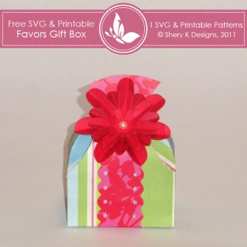 Free SVG & Printable Favors Gift Box