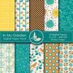 In My Garden Digital Papers