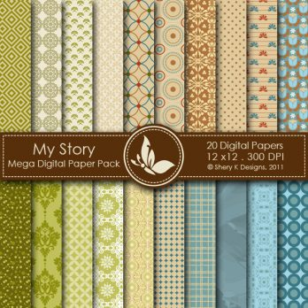 My Story Digital Paper Pack