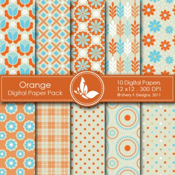 Orange digital papers