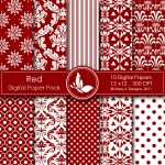 Red Digital Paper Pack