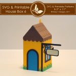 SVG & Printable House Box 6 1