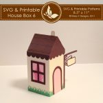 SVG & Printable House Box 6 2