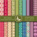 All Colors Digital Paper Pack