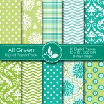 All Green Digital Papers