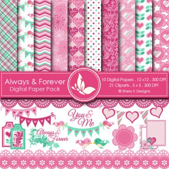 Always and Forever Digital Papers