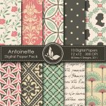 Antoinette Digital Paper Pack