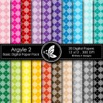 Argyle 2 Basic Digital Paper Pack