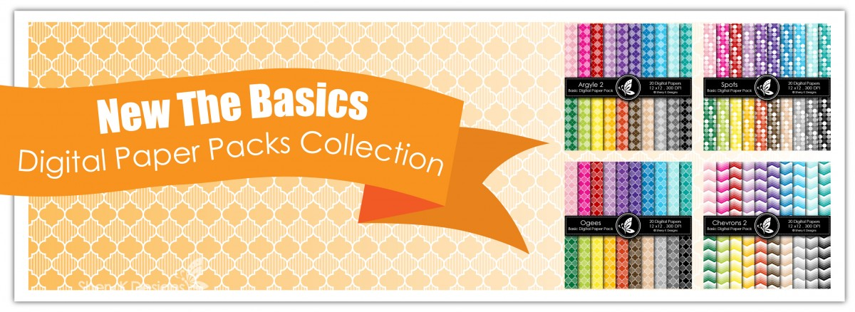 Basics Digital Paper Packs