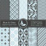 Blue & Grey Digital Papers