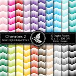 Chevrons 2 Basic Digital Paper Pack