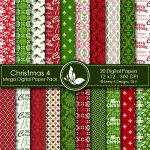 Christmas 4 Digital Paper Pack