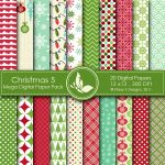 Christmas 5 Digital Paper Pack