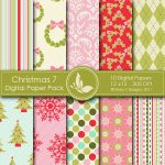 Christmas 7 Digital Papers