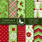 Christmas 8 Digital Papers