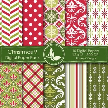 Christmas 9 Digital Papers