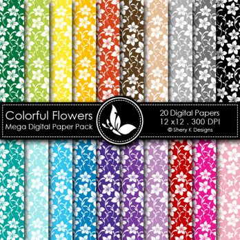 Colorful Flowers Basic Pack