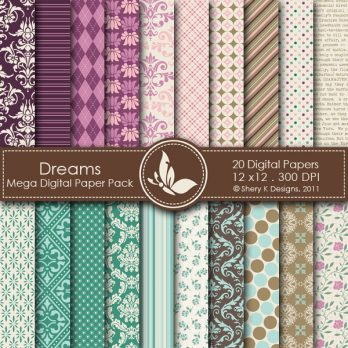 Dreams Digital Paper Pack
