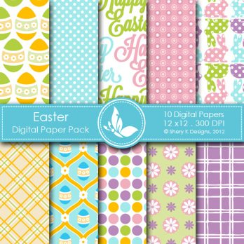 Easter Digital Paper Pack