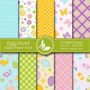 Egg Hunt Digital Papers