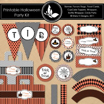 Free Halloween Party Kit