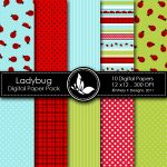 Free Ladybug Digital Papers