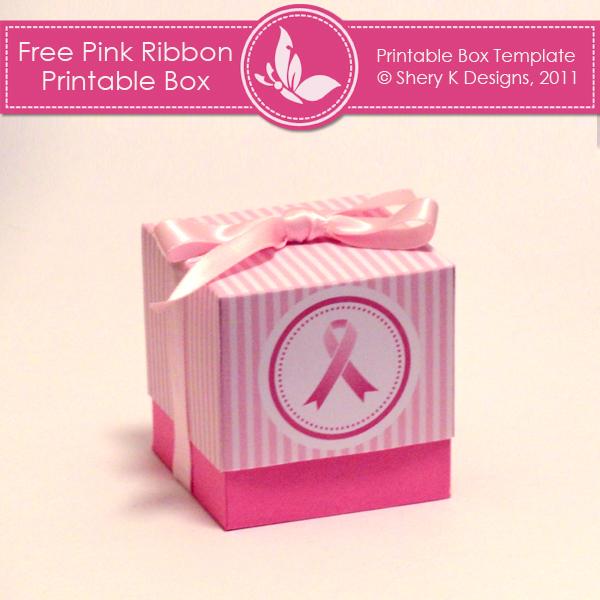 Free Printable Box Pink Ribbon