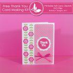 Free Thank you Card Making Kit