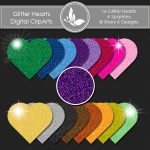 Glitter Hearts Cliparts