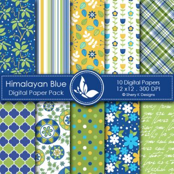 Himalayan Blue Digital Papers