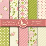 Light Pink Flowers Digital Papers