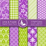 Lime & Purple Digital Papers