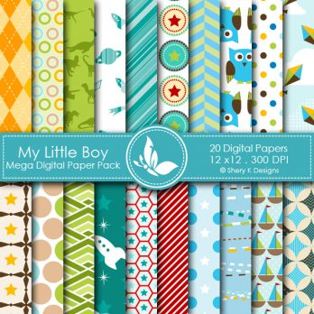 My Little Boy Digital Papers