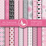 My True Love Digital Papers