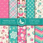 Nesting Dolls Digital Papers