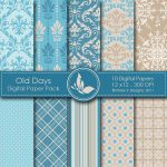 Old Days Digital Paper Pack