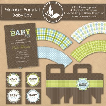 Printable Kit Baby Shower Boy