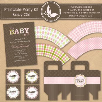 Printable Kit Baby Shower Girl