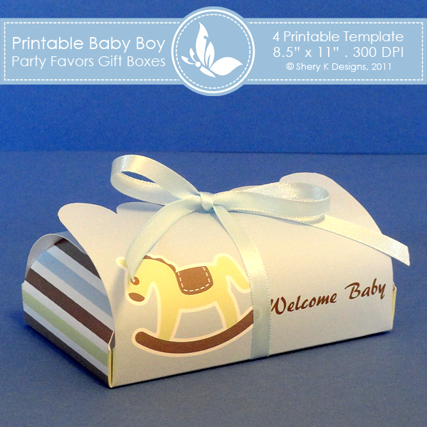Baby Boy Gift Box : Baby boy party favors gift box shery k designs