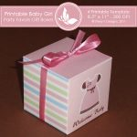 Baby Girl Party favors gift box 2 4
