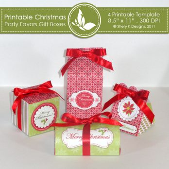 Christmas party favors gift boxes