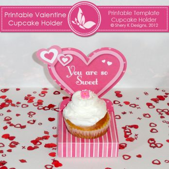 Printable Valentine Cupcake Holder
