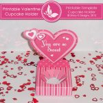 Printable Valentine Cupcake Holder 2
