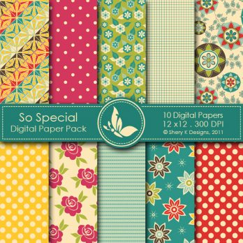 So Special Digital Papers